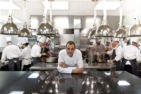 Undated photo of Daniel Humm at the kitchen of Eleven Madison Park in New York. Swiss-born chef Humm is having a dream year. His New York City restaurant, Eleven Madison Park, has three Michelin stars and in April was named one of the 10 best restaurants in the world on the S. Pellegrino and Acqua Panna list produced by Britain's Restaurant Magazine. REUTERS/Francesco Tonelli/Handout