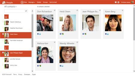 A screengrab shows the new version of Hotmail that Microsoft unveiled on July 31, 2012. REUTERS/Handout