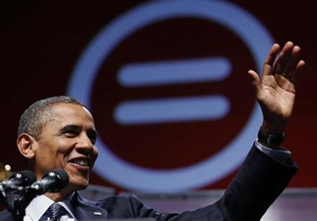 U.S. President Barack Obama waves during the 2012 National Urban League Conference at the Ernest N. Morial Convention Center in New Orleans July 25, 2012. REUTERS/Larry Downing