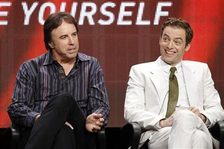Cast members Kevin Nealon (L) and Justin Kirk attend a panel for ''Weeds'' during the Showtime television portion of the Television Critics Association Summer press tour in Beverly Hills, California July 30, 2012. REUTERS/Mario Anzuoni
