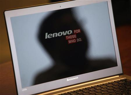 A Lenovo Ultrabook is displayed during Reuters China Investment Summit in Hong Kong November 14, 2011. REUTERS/Bobby Yip