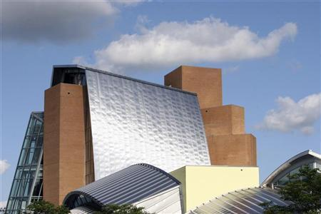 Princeton University's Lewis Library, designed by architect Frank Gehry, is seen here on the campus in Princeton, New Jersey, November 30, 2009. REUTERS/Steve James