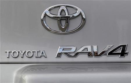A Toyota RAV4 is displayed at Boch Toyota in Norwood, Massachusetts January 27, 2010. REUTERS/Brian Snyder