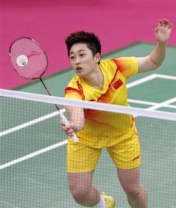China's Yu Yang hits a return next to team mate Wang Xiaoli against South Korea's Jung Kyung-eun and Kim Ha-na during their women's doubles group play stage Group A badminton match during the London 2012 Olympic Games at the Wembley Arena in this July 31, 2012 file photograph. REUTERS/Bazuki Muhammad/Files