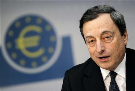 European Central Bank (ECB) President Mario Draghi speaks during the monthly news conference in Frankfurt June 6, 2012. REUTERS/Alex Domanski/Files