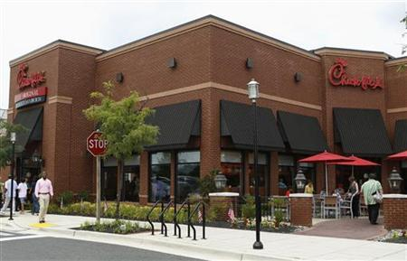 The exterior of a Chick-fil-A restaurant is seen in Silver Spring, Maryland, August 1 2012. REUTERS/Gary Cameron