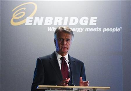 Enbridge Inc. CEO Patrick Daniel speaks during their annual general meeting for shareholders in Toronto May 9, 2012. REUTERS/Mark Blinch