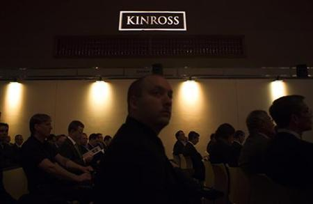 People look on during the Kinross Gold Corporation annual general meeting for shareholders in Toronto, May 9, 2012. REUTERS/Mark Blinch