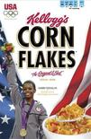 Gabby Douglas, Women's Gymnastics All-Around Champion is featured on Kellogg's(R) Corn Flakes(R) cover in this image released on August 3, 2012. REUTERS/PRNewsFoto/Kellogg Company/Handout