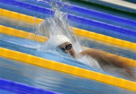 Katie Ledecky of the U.S. swims in the women's 800m freestyle heats during the London 2012 Olympic Games at the Aquatics Centre August 2, 2012. REUTERS/Tim Wimborne