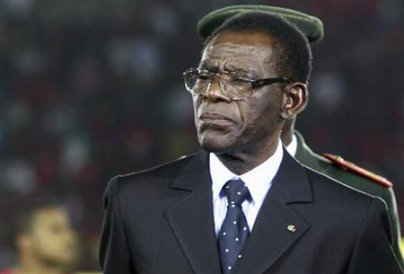 Equatorial Guinea's President Teodoro Obiang Nguema Mbasogo attends the opening ceremony of the African Nations Cup soccer tournament in Estadio de Bata ''Bata Stadium'' in Bata January 21, 2012. REUTERS/Amr Abdallah Dalsh