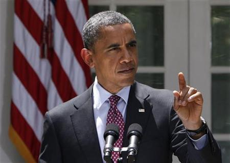 U.S. President Barack Obama speaks about immigration from the Rose Garden of the White House in Washington June 15, 2012. REUTERS/Yuri Gripas