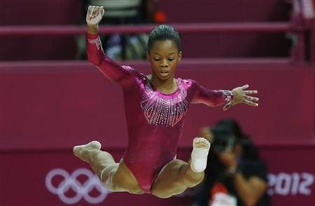 Gabrielle Douglas of the U.S. competes in the balance beam during the women's individual all-around gymnastics final in the North Greenwich Arena during the London 2012 Olympic Games August 2, 2012. REUTERS/Phil Noble