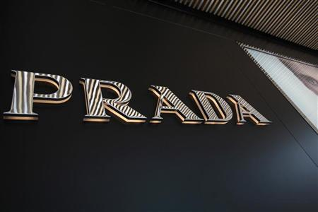 The Prada logo is seen outside its store in Hong Kong June 12, 2011. REUTERS/Tyrone Siu
