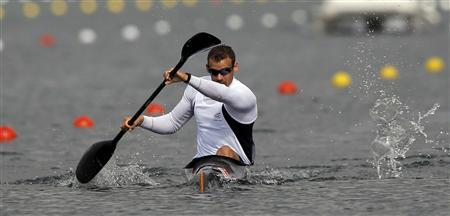 New Zealand's Ben Fouhy competes in the men's kayak single (K1) 1000m heat at the Eton Dorney during the London 2012 Olympic Games August 6, 2012. REUTERS/Darren Whiteside