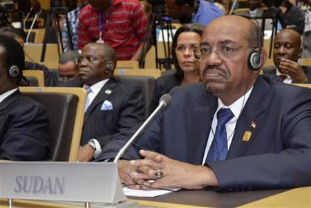 Sudanese President Omar Hassan al-Bashir attends the leaders meeting at the African Union (AU) Addis Ababa July 15, 2012. REUTERS/Tiksa Negeri