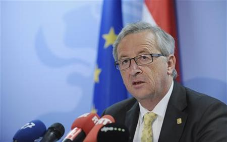 Luxembourg's Prime Minister Jean-Claude Juncker addresses a news conference after an European Union leaders summit in Brussels June 29, 2012. REUTERS/Eric Vidal