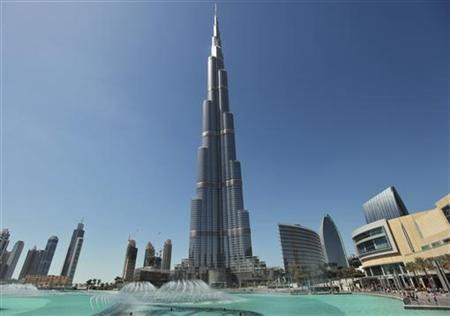 The Burj Khalifa, the world's tallest tower at a height of 828 metres (2,717 feet), stands in Dubai March 5, 2012. REUTERS/Mohammed Salem