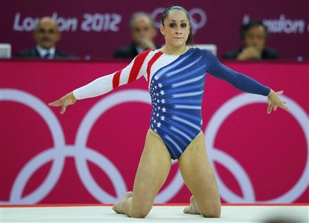 Jordyn Wieber of the U.S. competes in the women's gymnastics floor exercise final in the North Greenwich Arena during the London 2012 Olympic Games August 7, 2012. REUTERS/Mike Blake