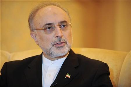 Iranian Foreign Minister Ali Akbar Salehi speaks during an interview with Reuters in Abu Dhabi July 9, 2012. REUTERS/Ben Job/Files