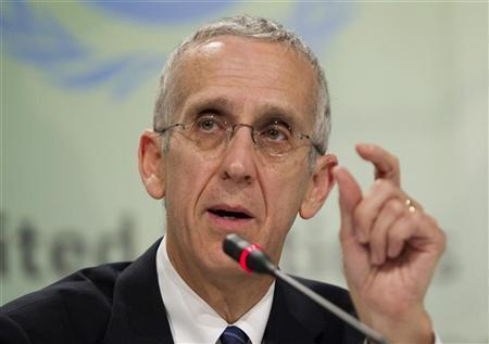 U.S. Envoy for Climate Change Todd Stern speaks during a news conference at the Conference of the Parties (COP17) of the United Nations Climate Change Conference (UNCCC) in Durban December 5, 2011. REUTERS/Rogan Ward