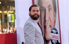 "Cast member Zach Galifianakis poses at the premiere of ""The Campaign"" at the Grauman's Chinese theatre in Hollywood, California August 2, 2012. The movie opens in the U.S. on August 10. REUTERS/Mario Anzuoni"