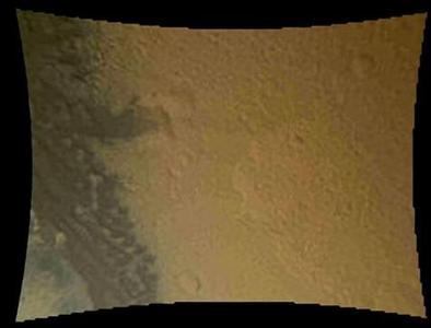 This color thumbnail image was obtained by NASA's Curiosity rover during its descent to the surface of Mars on August 5, 2012 and released by NASA on August 6, 2012. REUTERS/NASA/JPL-Caltech/MSSS//Handout