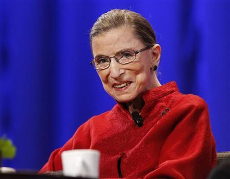 Justice Ruth Bader Ginsburg attends the lunch session of The Women's Conference in Long Beach, California October 26, 2010. REUTERS/Mario Anzuoni