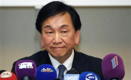 AIBA President Wu Ching-Kuo attends a news conference in Baku September 24, 2011. REUTERS/Osman Karimov