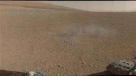 This is a portion of the first color 360-degree panorama from NASA's Curiosity rover in Mars ,released by NASA August 9, 2012, made up of thumbnails, which are small copies of higher-resolution images. REUTERS/NASA/JPL-Caltech/MSSS/Handout