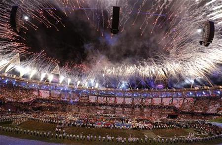 Picture shows the general view of the Olympic Stadium during the opening ceremony of the London 2012 Olympic Games July 27, 2012. REUTERS/Damir Sagolj