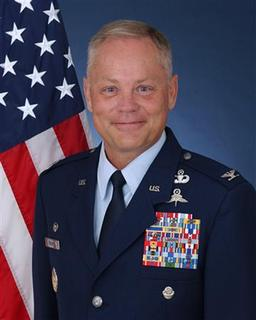 U.S. Air Force Colonel Glenn Palmer, Commander of Air Force Basic Military Training (BMT) at the 737th Training Group, Lackland Air Force Base, Texas, is seen in this undated handout photograph. REUTERS/US Air Force/Handout