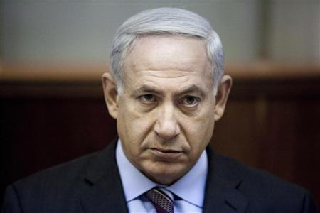 Israel's Prime Minister Benjamin Netanyahu attends the weekly cabinet meeting in Jerusalem August 12, 2012. Iran has stepped up work to develop a nuclear warhead, Israeli newspapers said on Sunday, citing officials in Netanyahu's government and leaked U.S. intelligence. REUTERS/Abir Sultan/Pool