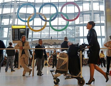 File photo of the Terminal Five arrivals hall at Heathrow Airport in London June 20, 2012. REUTERS/Luke MacGregor