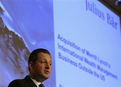 Boris Collardi, CEO of Swiss private bank Julius Baer, addresses a news conference in Zurich August 13, 2012. REUTERS-Arnd Wiegmann
