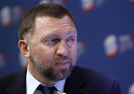 Russian tycoon Oleg Deripaska takes part in a discussion meeting at the St. Petersburg International Economic Forum in St. Petersburg, June 22, 2012. REUTERS/Sergei Karpukhin