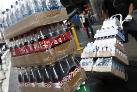 Coca-Cola products are seen packaged for delivery in New York June 23, 2008. REUTERS/Shannon Stapleton