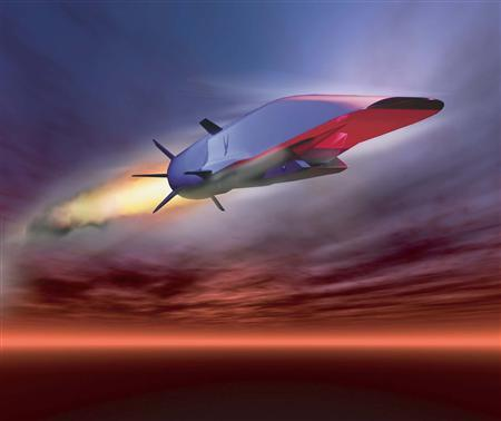 An undated U.S. Air Force handout graphic depicts the X-51A Waverider in flight. REUTERS/US Air Force/Handout/Files