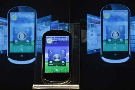 A LePhone is on display during a news conference in Hong Kong May 26, 2011. REUTERS/Tyrone Siu