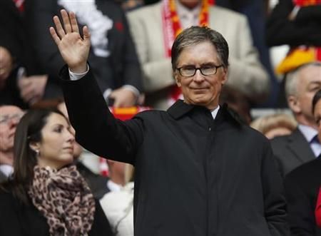 Liverpool's owner John W Henry waves ahead of their FA Cup final soccer match against Chelsea at Wembley Stadium in London, May 5, 2012. Reuters/Eddie Keogh