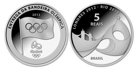Artist's impression of Rio 2016 Olympic Games official commemorative silver coins are seen in this undated handout illustration released to Reuters August 10, 2012. REUTERS/Central Bank of Brazil/Handout