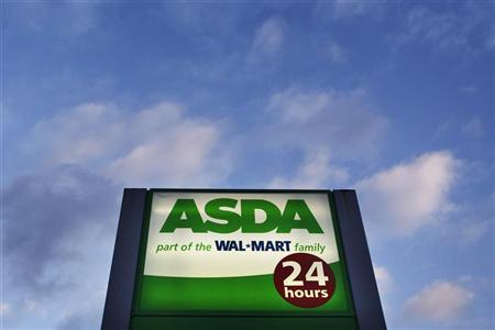 A sign for the ASDA supermarket chain stands outside a store in London, January 23, 2012. REUTERS/Finbarr O'Reilly