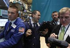 Traders work on the floor of the New York Stock Exchange June 11, 2012. REUTERS/Brendan McDermid
