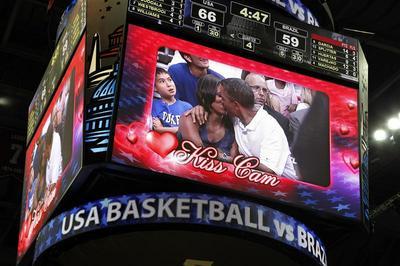 Obama's romantic moments