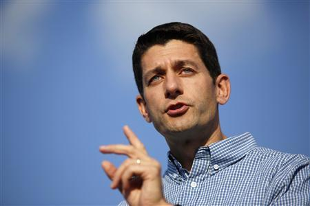 Republican vice presidential candidate Representative Paul Ryan (R-WI) speaks during a campaign rally at Miami University in Oxford, Ohio August 15, 2012. REUTERS/Aaron Bernstein