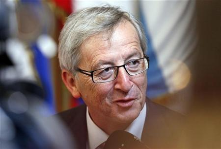 Jean-Claude Juncker leaves a two-day European Union leaders summit in Brussels early June 29, 2012. REUTERS/Sebastien Pirlet