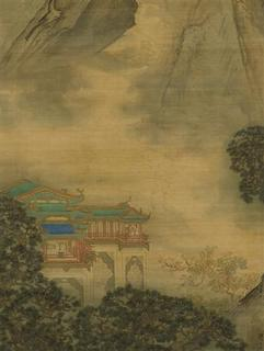 The painting known as ''The Palace of Nine Perfections'' is pictured in this undated handout. The tranquility and splendor of Chinese gardens are explored in a new exhibition that shows the importance of nature in Chinese art, life and culture spanning 1,000 years. REUTERS/Metropolitan Museum of Art/Handout