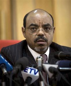 Ethiopian Prime Minister Meles Zenawi speaks to the media at his office in Addis Ababa, in this April 13, 2009 file photograph. Meles Zenawi, who had not been seen in several weeks, has died, reported Ethiopian state television on August 21, 2012. REUTERS-Irada Humbatova-Files