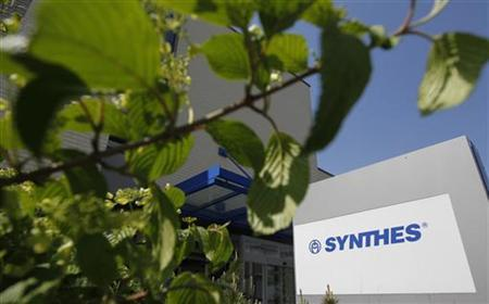 A general view shows the offices of Synthes in Oberdorf April 25, 2011. REUTERS/Christian Hartmann