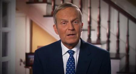 Congressman Todd Akin in a video apology released by his campaign. REUTERS/Todd Akin for U.S. Senate